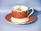 Sakura Hallmark Holiday Abundance Red Cup Saucer Sets