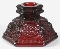 Avon Cape Cod Ruby Red  Candlestick Set
