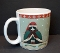 Oneida Fiddlestix Holiday Cats Mug Green Cape