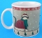 Oneida Fiddlestix Green Scarf Holiday Cats Mug