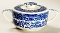 Royal China Company Willow Blue Flat Knob Sugar Bowl