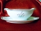 Noritake Crest Gravy Boat Attached Underplate