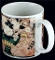 Warren Kimble Sakura White Roses Mugs