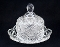 Avon Crystal Dome Covered Butter Dish Diamonds Crosshatch