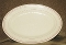 Wellsville San Tan Red Stripe Restaurant Ware Oval Platter