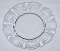 Fostoria Baroque Meadow Rose Etch Salad Dessert Plates