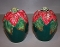 Fitz & Floyd Holiday Poinsettia Salt & Pepper Shaker Set