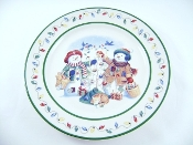 Longaberger Pottery Flurry & Snowball Collector Plate