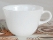Pyrex Opal White C Handle Tea Coffee Mugs