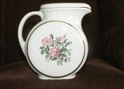 Harker Pottery Wild Rose Lidded Water Pitcher