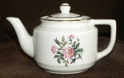 Harker Pottery Wild Rose Tea Pot