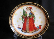 Certified Intl Pamela Gladding Country Santa Luncheon Plates