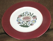 McNicol China Company Indian Flower Dinner Plates