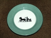 Shenango Horse Drawn Carriage Silhouette Restaurant Side Plates