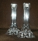 Miller Rogaska Triangle Tall Crystal Candlestick Pair