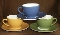 Williams Sonoma Passano Blue Cup & Saucer Sets