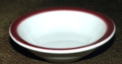 McNicol China Maroon Spray Mist Fruit Berry Bowls