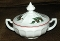 Westmoreland Milk Glass Christmas Holly Candy Dish