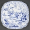 Royal Albert Blue Willow Square Luncheon Plates