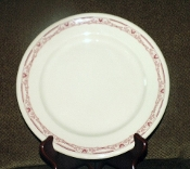 Jackson China Jac-Tan Red Scroll Dinner Plates