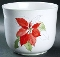 Block Spal Watercolors Poinsettia Medium Cachepot