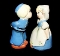 Vintage Lefton Dutch Boy Girl Salt Pepper Shaker Sets