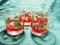 Libbey Holly & Berries Flared Double Old Fashion Glasses