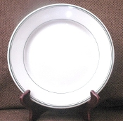 Carr China Green Stripe Restaurant Dinner Plates