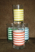Ralph Lauren Primary Color Stripe Juice Glass Set