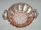 Anchor Hocking Old Cafe Pink Depression Glass Handled Bowl
