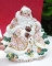 Fitz & Floyd Snowy Woods Santa Serving Canape Plate