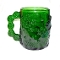 Arcoroc Emerald Green Glass Snowman Mug Sets