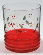 Pfaltzgraff Winterberry Handpainted Double Old Fashion Glasses