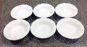 Buffalo China Scalloped Edge Restaurant Ware Berry Bowl Sets