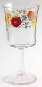 Corning Corelle Wildflower Glassware Six Ounce Goblets