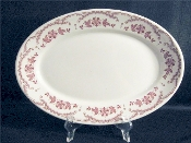 Sterling China Chardon Rose Red Restaurant Ware Platters