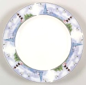 Thompson Pottery Lighthouse Dinner Plates