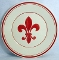 Williams Sonoma Fleur De Lys Red Luncheon Plates