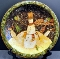 Certified Int Susan Winget Folk Snowman Dinner Plates