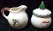 Pfaltzgraff Snow Bear Sugar Bowl & Creamer Set