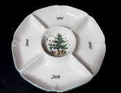 Nikko Christmastime Christmas Tree Five Sectioned Tray