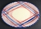 Vernon Kilns Calico Blue Red Plaid Oval Platter