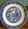 Royal China Company Willow Ware Chop Plate Platter