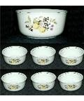 Vintage German Porcelain Seven Piece Berry Bowl Set